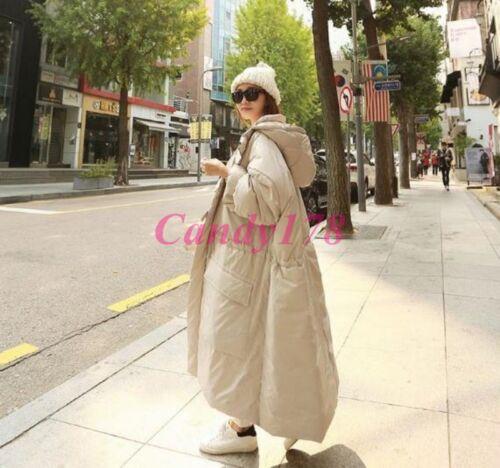 Casual Long Korean Loose Coats Parkas Oversize Padded Maxi Kvinders Winter Hoodies 6qwEY0