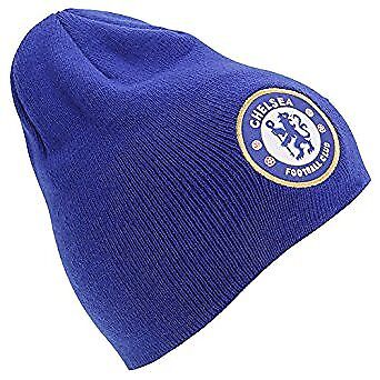 Chelsea FC Unisex Official Knitted Winter Football Crest Hat