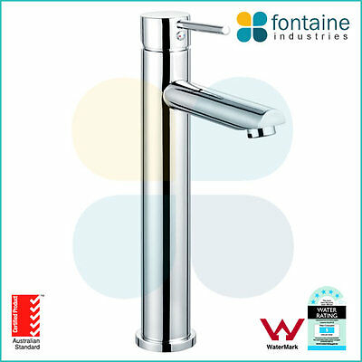 Tap Mixer Brass Chrome WELS AU Standard Modern Tall Round Bathroom Basin NEW