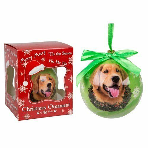 Dog and Cat Handcrafted Christmas Baubles Choose From Many Breeds in a gift box