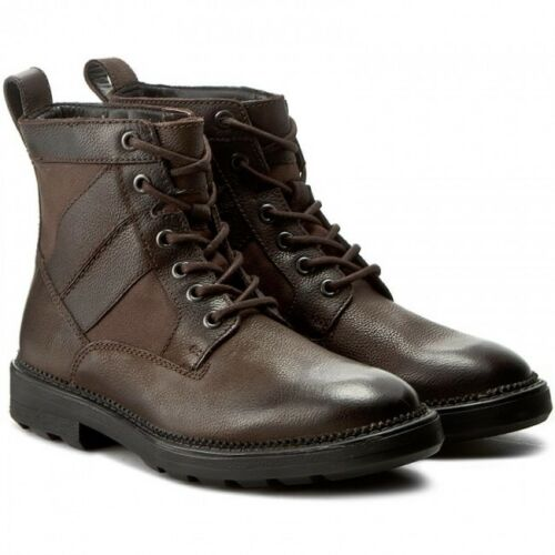 Clarks Mens ** Tyrus Rise Grain Dark Brown or Black Lea UK 9,10,11 G Cushion