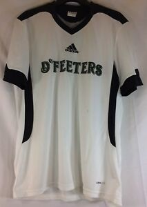 Adidas-D-039-Feeters-soccer-jersey-Men-039-s-XL-White-Black-and-Green