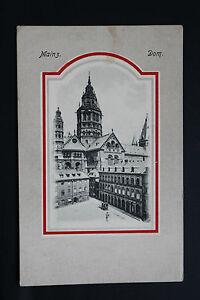 Tarjeta-Postal-Antigua-Alemania-Mainz-Mainz-Dom