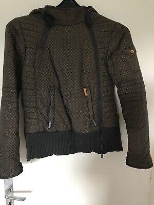 Khujo Damen Jacke Winterjacke L warm Oliv Khaki kariert   eBay