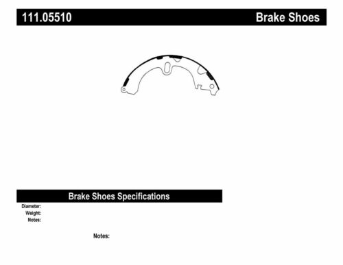 Drum Brake Shoe-Sedan Rear Centric 111.05510