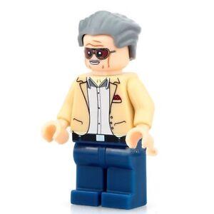 NEW-LEGO-Blocks-Minifigure-STAN-LEE-Marvel-Universe-Comic-Super-Heroes