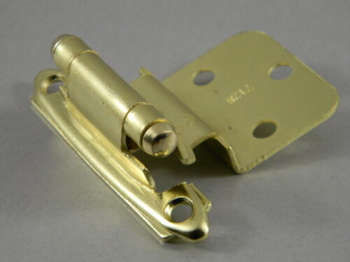 Amerock Cabinet Hinges Brass Finish 7128-3  3//8 Inset Pair