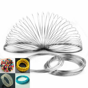 60-100-Loops-6cm-Stainless-Steel-Memory-Wire-for-Bracelet-Bangle-Jewelry-MAA