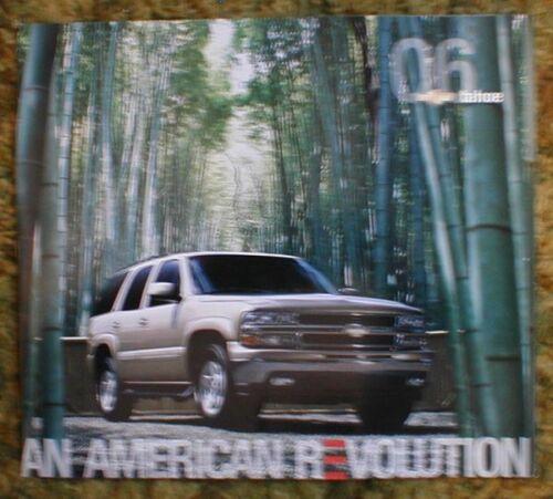 2006 Chevrolet Tahoe Sales Brochure original 2006