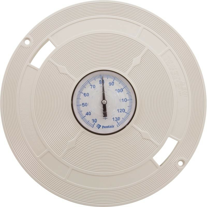 """Pentair L1B 9.87/"""" Skimmer Lid with Thermometer Almond"""