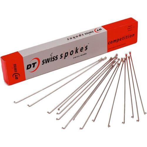 4 Speichen 240 mm DT-Swiss Competition 2,0 x 1,8 x 2,0 mm schwarz oder silber