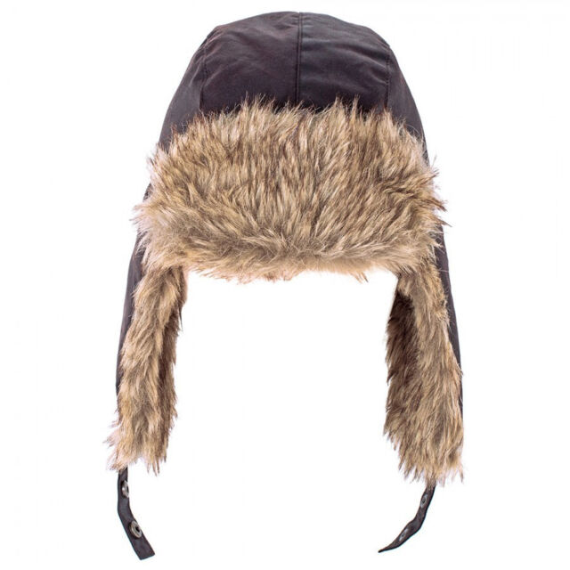 c6daf4e93a8 HEATHER Hats Mens Loughrigg Waxed Cotton Trapper Hat - Olive Green ...