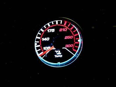 Megan Racing V1 Universal 52mm Black Face LED Oil Temp Temperature Meter Gauge
