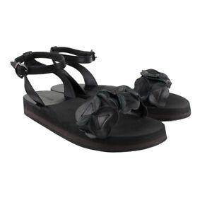 Moncler-Black-Leather-039-Charlotte-039-Sandals-IT37-UK4