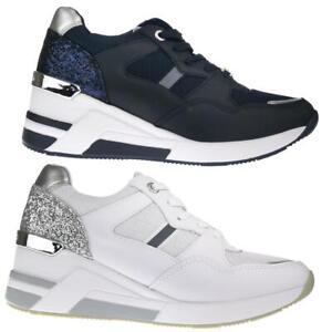 Details zu Tom Tailor 8091512 Damen Sneaker Schnürer Glitter Keilabsatz Gr.37 43