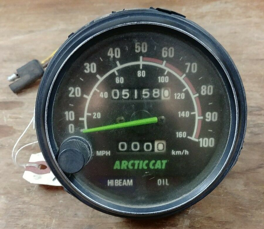 1992 Arctic Cat 700 speedometer trip, oil and  High beam lights 5158 miles  more order