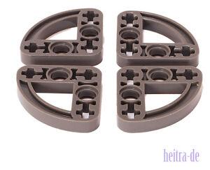 LEGO Technik - 4 x Liftarm viertel - oval 3x3 dunkelgrau / 32249 NEUWARE (e8)