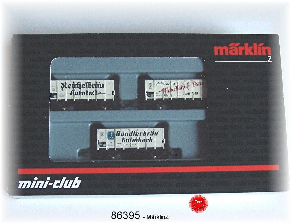 Märklin 86395 Traccia Z Carro Birra-Set della DB 3 pezzi  neu in OVP