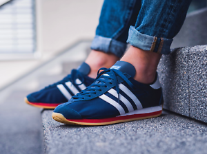 Details about ❤ BNWB & Authentic adidas originals ® Country OG Trainers in Navy Blue UK Size 8