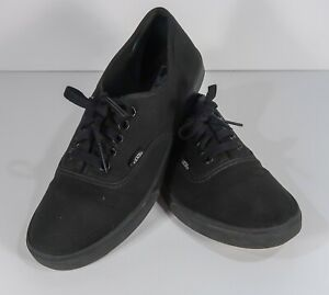 Vans-Authentic-Casual-Shoes-Mens-Men-039-s-Size-8-5-Black-on-Black-Lace-VN000EE3BKA