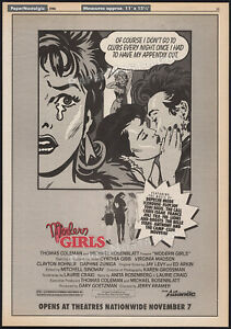 MODERN GIRLS__Original 1986 Trade prinAD / poster__Daphne Zuniga__Cynthia Gibb