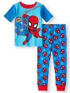 DC Comics Batman 4 PC Short Sleeve Tight Fit Cotton Pajama Set Boy Size 5T