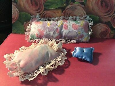 FISHER PRICE Loving Family Dollhouse PINK SATIN PILLOW Decorative ~ Rare