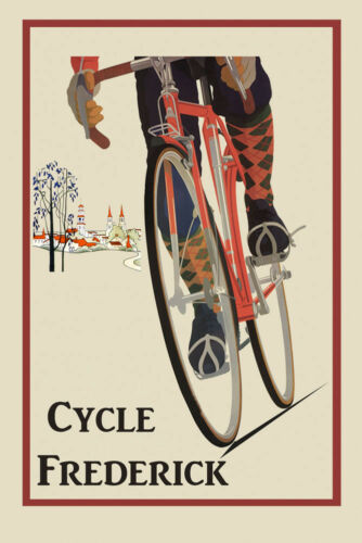 Frederick Maryland Bicycle Cycle Riding American USA Sport Poster Repo FREE S//H