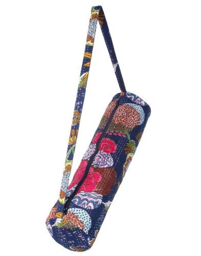 Indian Kantha Handmade Yoga Mat Carry Bag goods With Shoulder Strap Carrier Bags