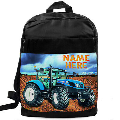 Holland Tractor Bag Farming Backpack Boys School Bag Personalised NST001
