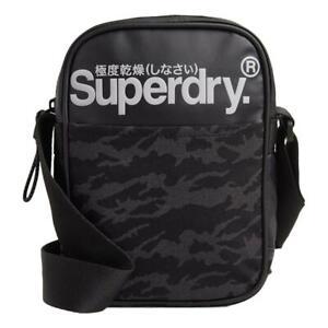 Superdry-Nuevo-Hombre-Neo-Toldo-Bolsa-Lateral-Oscuro-Marga-Nuevo-con-Etiqueta