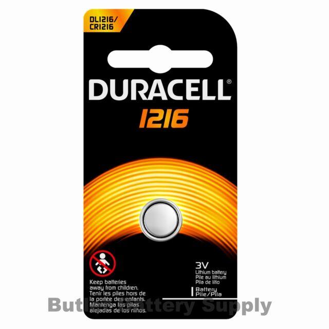 1 x 1216 Duracell Coin Cell Battery - Lithium 3V - (CR1216, DL1216, ECR1216)