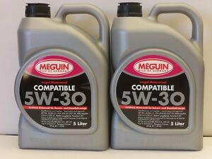 4,95€/l Meguin Megol Motorenöl Compatible SAE 5W-30 10 Ltr  VW 50400 50700