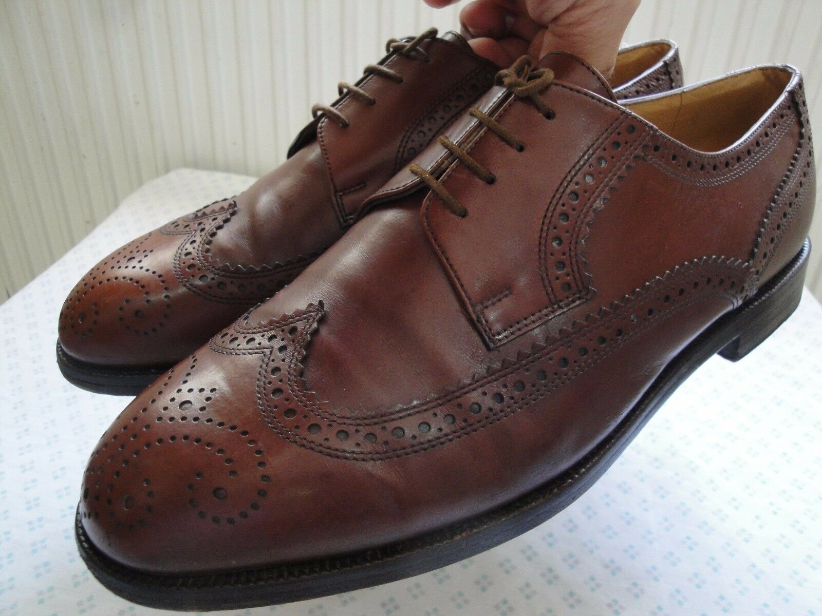Bally Wingtip Parawet Wingtip Bally Men Schuhes Braun Leder Made In Switzerland US Größe 9 D 8c4276