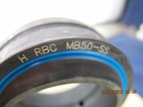 MB50-SS RBC Spherical Double Sealed Plain Bearing 50x75x35 B7BB