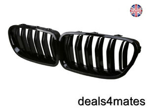 For-Bmw-M5-Look-F10-F11-5-Series-Kidney-Grille-Grill-Gloss-Black-Twin-Bar-Slat