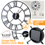 EXTRA-LARGE-ROMAN-NUMERALS-SKELETON-WALL-CLOCK-40-60CM-BIG-GIANT-OPEN-FACE-ROUND miniatura 12