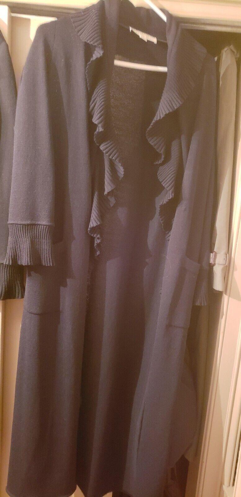 St.john sweater coat ruffles size 6