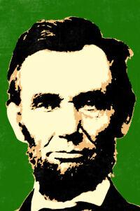 Abraham Lincoln Pop Art Poster 12x18 inch