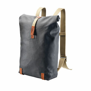 Brooks-Pickwick-Rucksack-gross-26l-grey-honey-grau-Made-in-Italy
