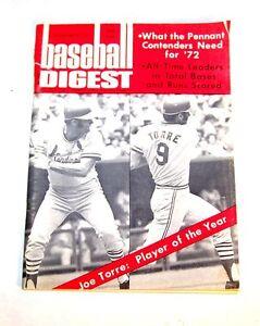 December-1971-Baseball-Digest-Joe-Torre-Ex-St-Louis-Cardinals-Ticket-Blues-Ofr