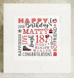 Image Is Loading Handmade Birthday Card Boyfriend 14 15 16 17th