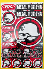 Bogen Aufkleber Sticker - 15 x METAL MULISHA rot schwarz - 265 x 170 mm   #M06
