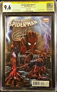MARVEL-Comic-SPIDER-MAN-1-CGC-SS-9-6-GAMESTOP-VARIANT-X2-HORN-ZECK-VENOM-CARNAGE