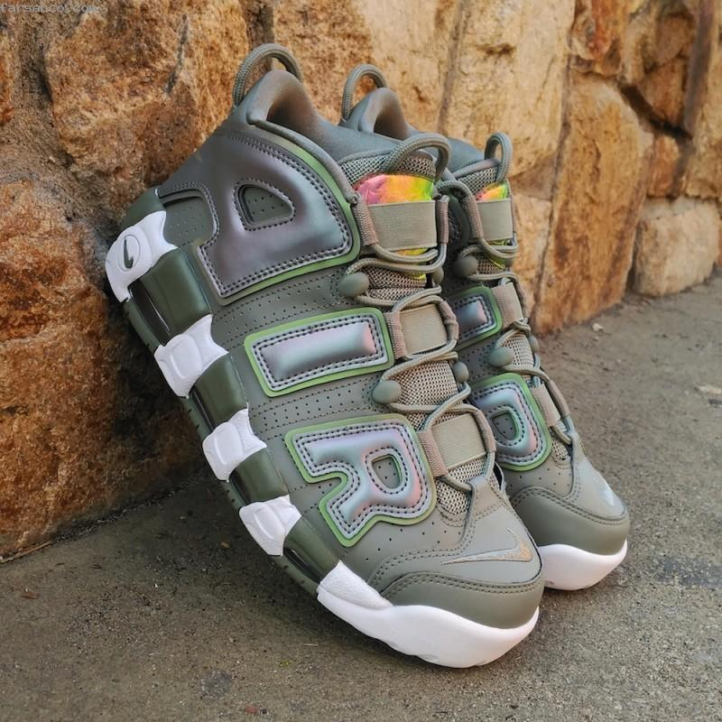 Nike Air More Uptempo 917593-001 Dark Stucco Women's  Athletic shoes SZ 8.5