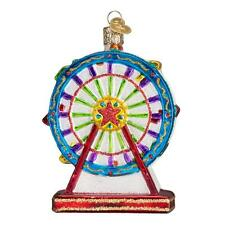 FERRIS WHEEL OLD WORLD CHRISTMAS GLASS CARNIVAL PARK RIDE ORNAMENT NWT 36171