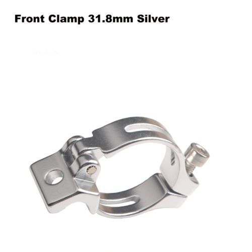 31.8mm Road Fold Bike Straight Front Derailleur Clamps Adapter Ring Clamp Silver