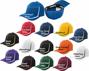 Flexfit-Mens-Fitted-Colorblock-Hat-Moisture-Wicking-Baseball-Cap-Flex-Fit-NEW