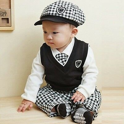 5 Pieces Baby Boy Outfits Baby Boy Children Toddler Clothes Gentleman Sets TYD4