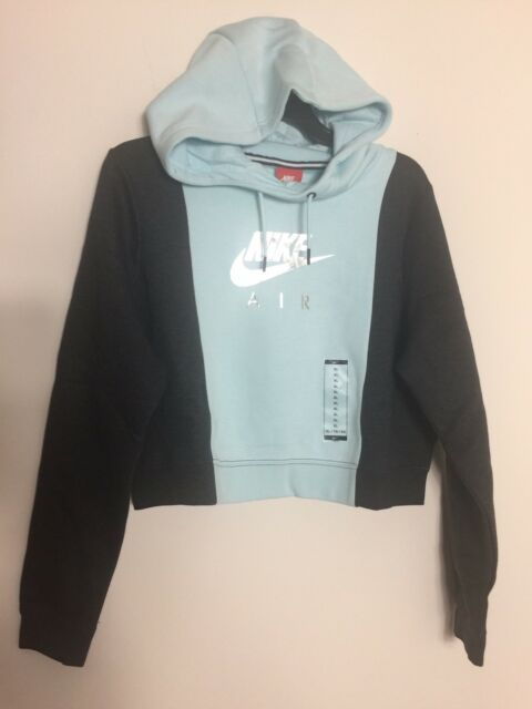 8c4efdbc250e Nike Womens Rally Crop Metallic Air Hoodie 855422-411 Size XL for sale  online